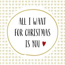 Weihnachtsserviette All i want for christmas is you